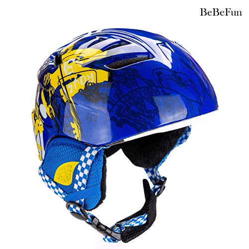 BeBeFun Toddler and Child ski Skate Helmet 50-53cm Small Size Especially Design for 2-6 Years Toddler Kids. (Pink, S(50-53cm))