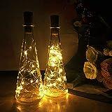 3m 30 LED luces de botella de color multicolor (10 PAQUETES DE 10 PACES) Luces de cuerda de corcho de alambre de cobre operado por la batería para la botella de vino Starry String Light para fies