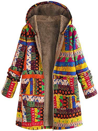 2021 La última capa larga de invierno para las mujeres, chaquetas negras de color amarillo rojo sólido de gran tamaño, ropa de abrigo de punto casual caliente