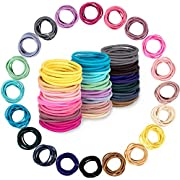 Whaline 200PCS Baby Hair Ties, Multicolor Hair Bands No Crease Hair Elastics Small Ponytail Holders Hair Accessories for Kids Girls Infants Toddlers, 2.5cm in Diameter (20 Colors, 2mm in Thickness)