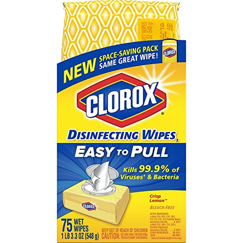 Clorox Disinfecting Wipes, Crisp Lemon - 75 Wipes (31404)