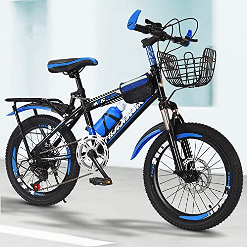 DHMKL 18/20/22 Pulgadas Bici Infantiles Bicicletas NiñOs,Bicicleta MontañA NiñOs/Freno Disco/Asiento Ajustable/Sistema TransmisióN Sensible Seis Velocidades/Apto NiñOs 7 A 15 AñOs