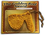 Golden Rod Award Knit Warmer for Men, Funny, Personalized, Joke, Customizable, Stocking Gift, Husband, Boyfriend, Dad, Willy Heater, Naughty White Elephant, Christmas