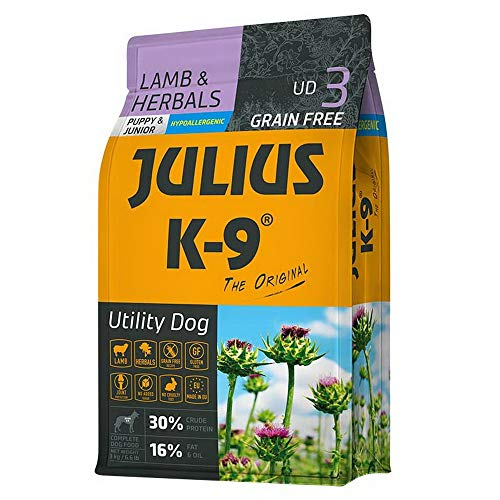 Panzi JULIUS K-9 - Welpen und junge Hunde - Lamm & Kräuter - Trockenfutter - 3 k