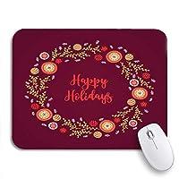ROSECNY 可愛いマウスパッド クリスマスリースボールモミ枝星と黄金の葉ノンスリップゴムバッキングノートブック用マウスパッドマウスマット
