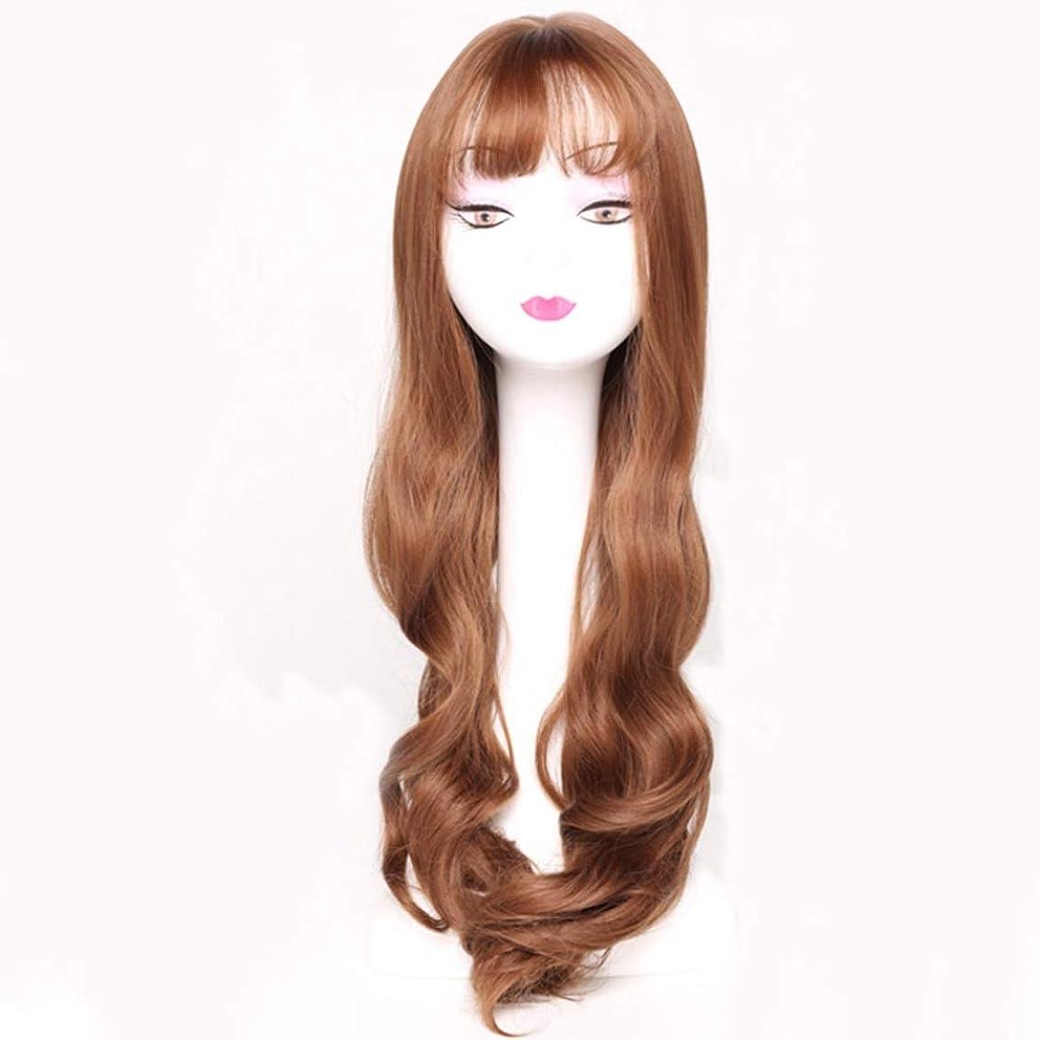 細菌立場推定Kerwinner レディースウィッグカーリー合成かつら前髪合成耐熱女性ヘアスタイルカスタムコスプレパーティーウィッグ