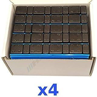 4 x 6 kg 24 kg svart urvalsvikt 5 g x 4 + 10 g x 4 självhäftande vikt lim