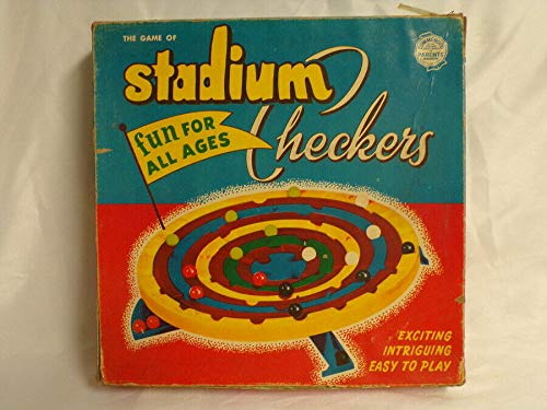 ORIGINAL Vintage 1952 Schaper Stadium Checkers Board Game