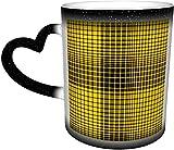Tazze da caffè Richmond Colors Tigre Plaid Sensibile al calore Tazza che cambia colore nel cielo Tazza in ceramica Regali personalizzati per gli amanti della famiglia Amici