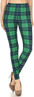 Best blue and green plaid leggings Reviews