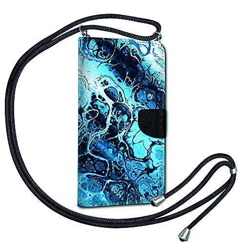 Handykette Kordel Band Book Tasche für Nokia 5.3 - Handyhülle Handy Hülle mit Band Schutzhülle zum Umhängen TPU Silikon Motiv KBX30