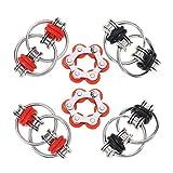 Fuyamp Flippy Chain Fidget Toy – Cadena de rodillo con llave Flippy Cadena perfecta para adhd, ansiedad y autismo – Cadena de bicicleta Fidget Juguete reductor de estrés para adultos y niños