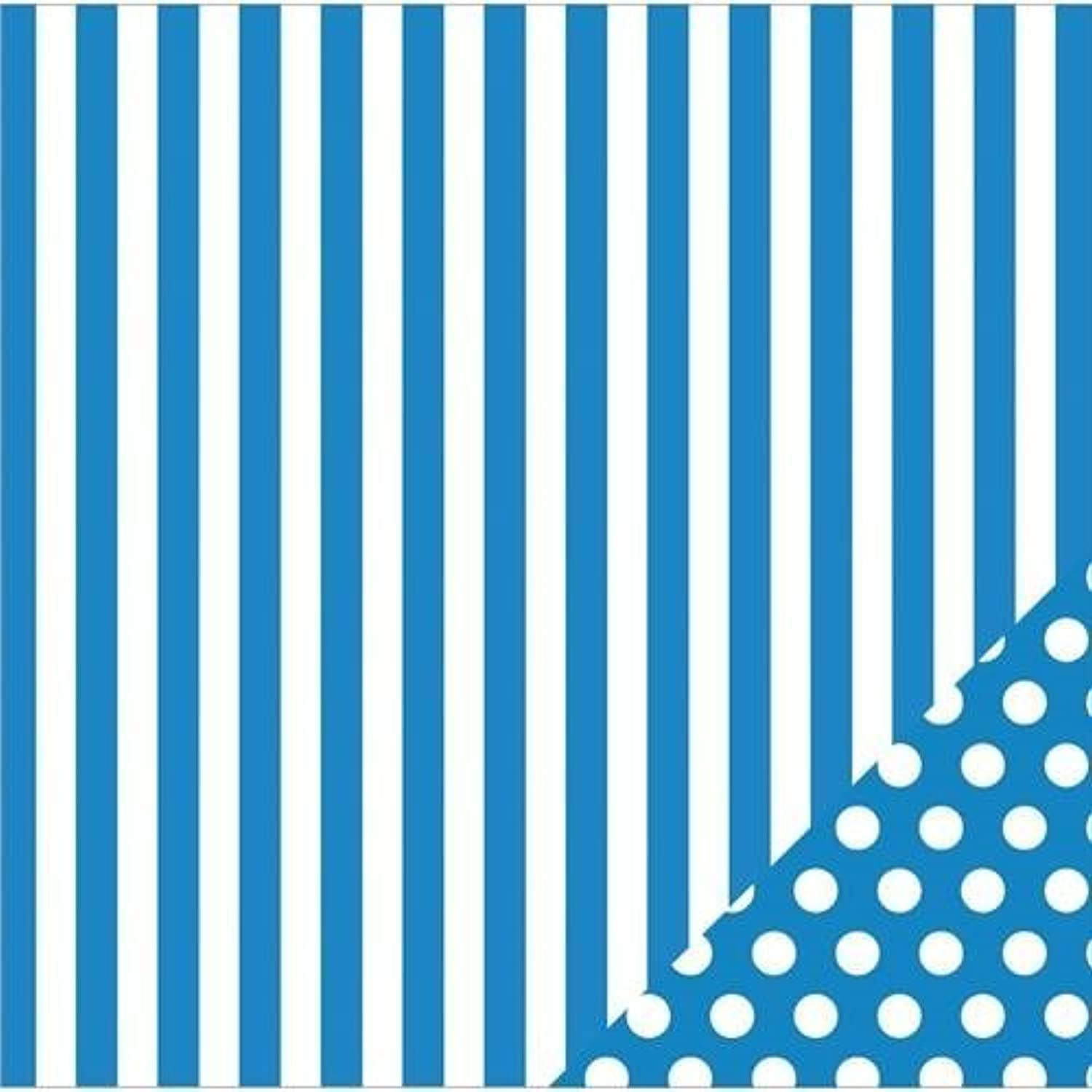 American Crafts Basics Double-Sided Cardstock 12 X12 -Marine Stripe by American Crafts B0149HAXIS | Sale