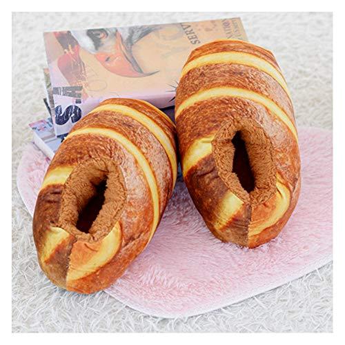 EDOSTORY Kreativen Spaß Pantoffeln, Gourmet-Brot Kreative Hausschuhe, Hausschuhe rutschfeste Boden Hausschuhe Hausschuhe Schuhe,Braun,EU37