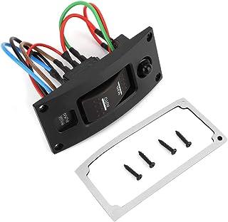EBTOOLS Schalttafel aus gebogenem Kunststoff, LED Wippschalttafel für Bilgenpumpen und Leistungsschalter (ON Off ON Deluxe)
