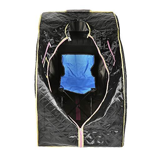 Flyelf Infrarossi Portatile Personale Spa, Box Sauna per Personale Detoxify Perdere Peso 98 x 70 x 80 cm (Infrarosso Nero)