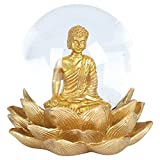 Angoily Estatua de Buda de Cristal Estatuilla de Buda Esfera Decorativa de Cristal Bola de Esfera...