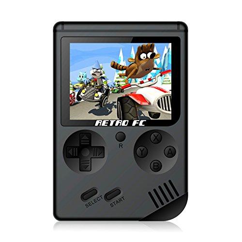 Anbernic Handheld Spielkonsole, Handheld Konsole 3 Zoll 168 Retro Spielkonsole Konsole - Schwarz