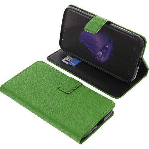 foto-kontor Tasche für HomTom HT50 Book Style grün Schutz Hülle Buch