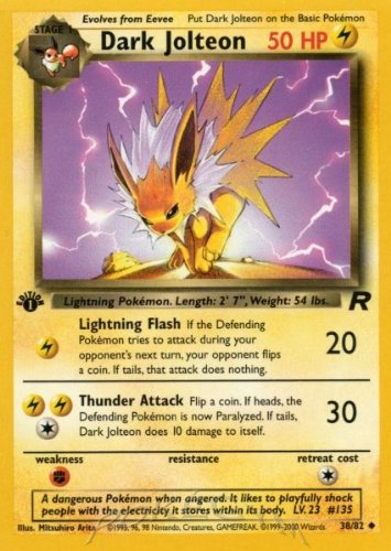 Pokemon - Dark Jolteon (38) - Team Rocket