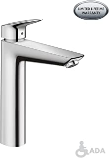 hansgrohe Logis  Modern 1-Handle  10-inch Tall Bathroom Sink Faucet in Chrome, 71090001