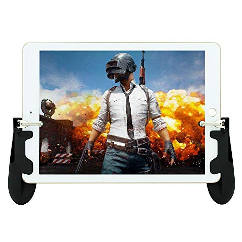 Game Controller for iPad Sensitive Aim and Fire Triggers for PUBG Mobile Gamepad for for PUBG/Knives Out Support 4.5-12.9 inch Android Tablet Operation by 4 Fingers
