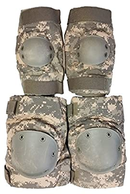 Military Outdoor Clothing 1053-O Previously Issued U.S. G.I. ACU Knee and Elbow Pad Set (Old Style)