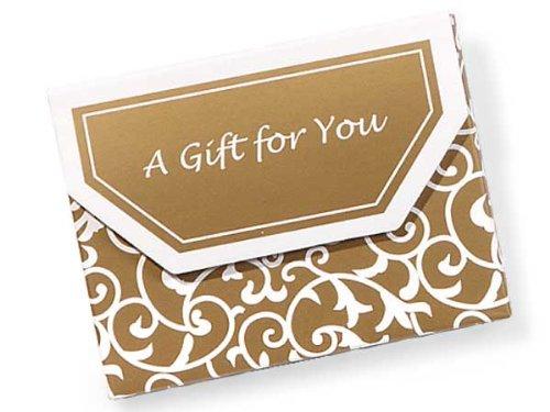 Elegant Gold Scroll Gift Card Holder - Set of 5