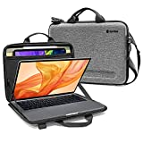 tomtoc 11.6-13 Inch Slim Hard Case for 13-inch MacBook Air 2018-2021 M1/A2337 A2179, MacBook Pro 13 2016-2021 M1/A2338 A2251 A2289, Organized Shoulder Bag with Tablet Pocket for Up to 11 iPad Air/Pro
