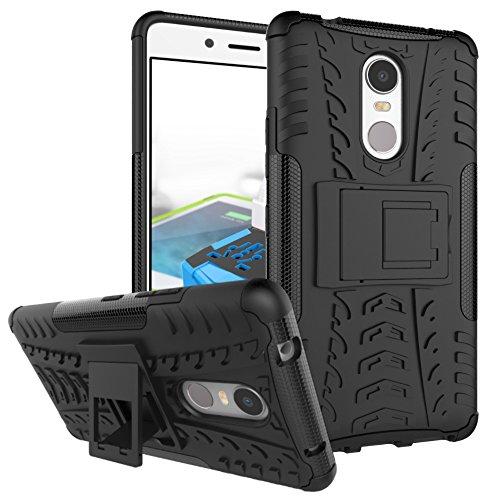 TiHen Funda Lenovo K6 Note 360 Grados Protective con Pantalla de Vidrio Templado. Caso Carcasa Case Cover Skin móviles telefonía Carcasas Fundas para Lenovo K6 Note - Negro