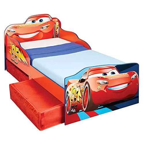 Price Right Home Disney Cars Lightning McQueen Lit pour enfant avec rangement et matelas à ressorts