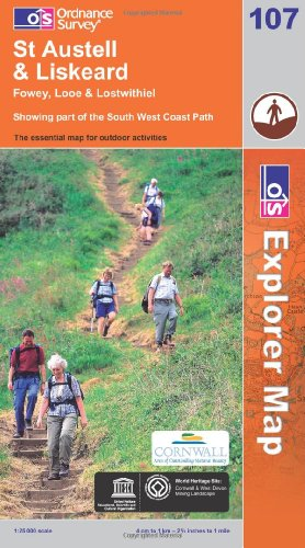 OS Explorer map 107 : St Austell & Liskeard