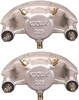 2-Pack Kodiak Trailer Brakes Replacement Dacroment Caliper w/ Ceramic Pads