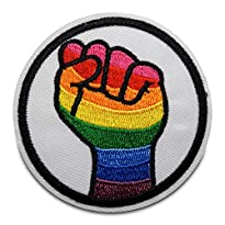 Regenbogen Faust Patch zum Aufbügeln LGBT-Aufnäher von Finally Home