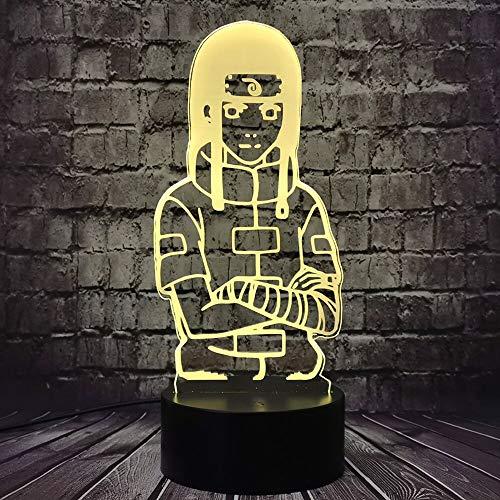 Naruto personaje cómico luz de noche dibujos animados led lámpara de escritorio decoración regalo