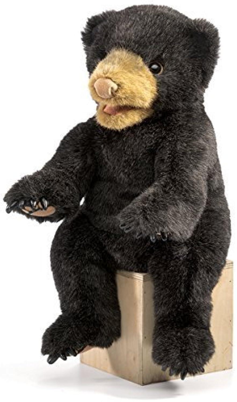 venta caliente en línea Folkmanis negro Cub Cub Cub Bear Hand Puppet by Folkmanis  marcas en línea venta barata
