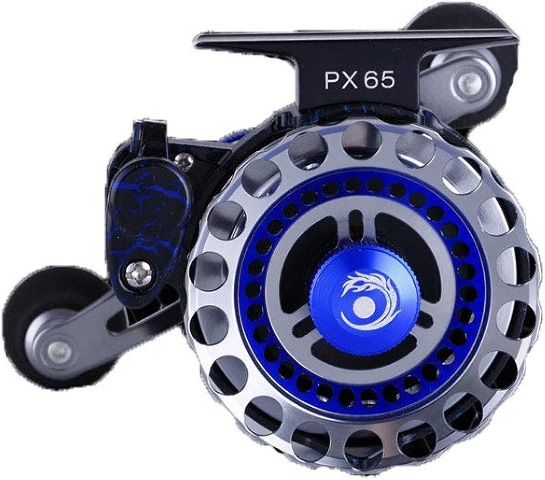 PPOUTDD PX65 Reihe Linie Schneiden Runde Mikro-Blei Fliegenfischen Rad Vorderrad Metall Angelrolle Fanggerte