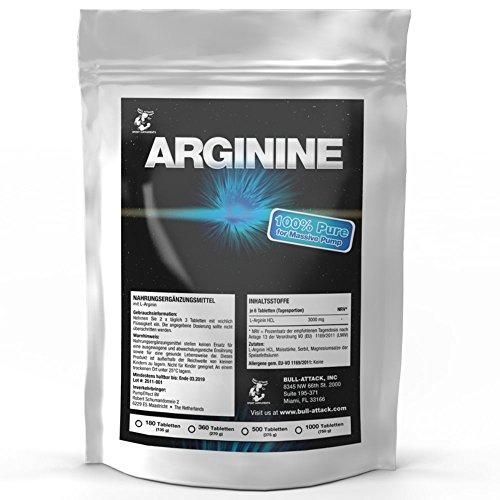 L-ARGININ   1000 Tabletten á 3000 mg Portion   Vegan   Großpackung XXL   Semi-essentielle Aminosäure   Zum Muskelaufbau Pre-Workout & Durchblutung   Premium Qualität zum Fairen Preis