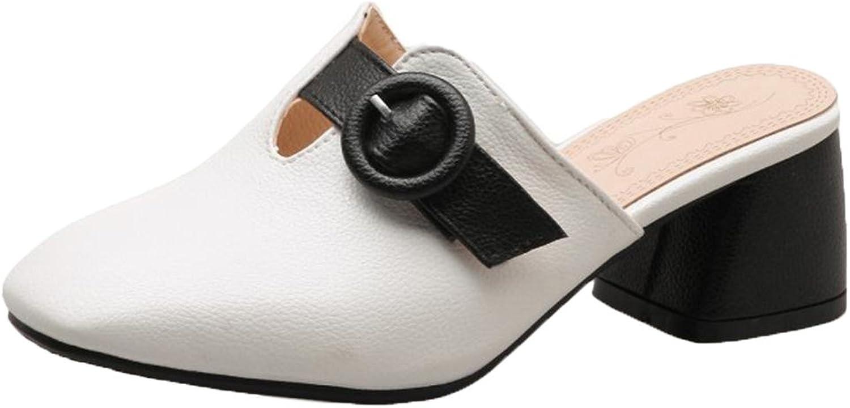 CarziCuzin Women Square Toe Mules shoes