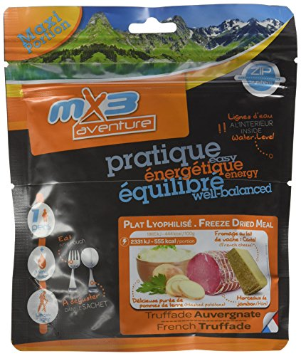 MX3Adventure Comida liofilizada para viajar, receta francesa a base de carne y vegetales