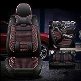 karstry Fundas Asientos Coche Universales para Mercedes Benz W204 W211 W210 W124 W212 W202 W245 W163 Cla Gls Gla Glc Clase A / B / C / E. Accesorios Coche, Lujo Rojo Negro