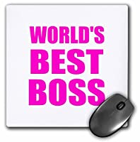 3drose Worlds Best BossホットピンクテキストGreat Design for the Greatest Bossマウスパッド(MP 194440_ 1)
