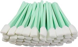 Lot de 100 bâtonnets de nettoyage carrés rectangulaires en mousse pour imprimante à jet d'encre et équipement optique Rola...