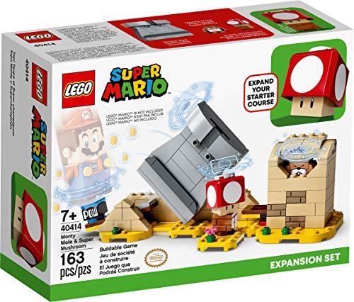 Lego Super Mario: Monty Mole & Super Mushroom Expansion Set - 163 Piece Building Kit - Lego, #40414, Ages 7+