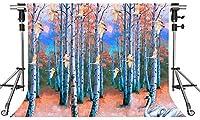 HDフォレストフライングクレーンの背景レイクサイドホワイトクレーンフライングクレーンの写真の背景写真スタジオの背景小道具の装飾壁画7x5ftZYMT228