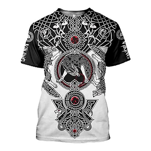 SSBZYES Camiseta para Hombre, Camiseta De Algodón con Llama De Manga Corta De Verano para Hombre, Camiseta De Cuero a La Moda para Hombre, Camiseta Informal De Manga Corta con Cuello Redondo