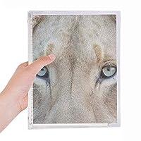 陸生生物が野生動物の白いライオン 硬質プラスチックルーズリーフノートノート