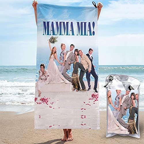 AB-BA Hochzeit Jugendkunst Donna Sophie Film Merchandise Mamma Mia Amanda Seyfried 1 und 2 schnell trocknendes Handtuch Badelaken schnell trocknend weich Sonnenbaden Spa Sache