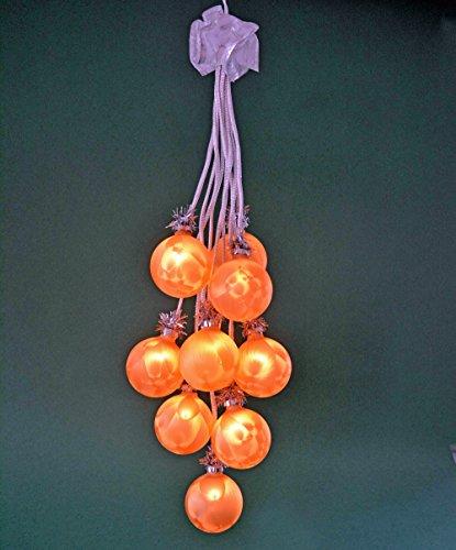 yanka-style Ganci sferici in Vetro, Colore Oro Ghiaccio, 10 luci, Illuminati Circa Decorazione Natalizia da 65 cm (41049)