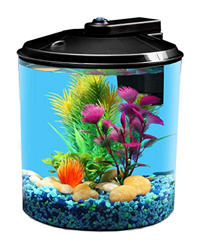 Koller Products 1.5-Gallon Aquarium 360 with LED Lighting & Power Filter